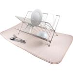 Envision Home Cream Microfiber Jumbo Dish Drying Mat, 18 x 32 Inch