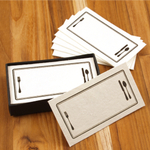 Homart Place Setting Printed Handmade Paper Card, Set of 32