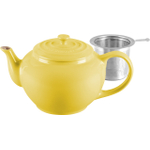 Le Creuset Soleil Yellow Stoneware Teapot with Stainless Steel Infuser, 1 Quart