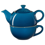 Le Creuset Marseille Blue Stoneware Tea for One