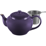 Le Creuset Cassis Stoneware 1 Quart Teapot with Stainless Steel Infuser