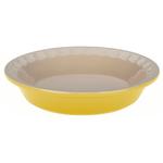 Le Creuset Heritage Soleil Yellow Stoneware Pie Pan, 5 Inch