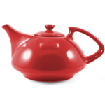 OmniWare Teaz Red Stoneware Athena 30 Ounce Teapot with Stainless Steel Mesh Infuser