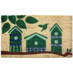Entryways Birdhouses Hand Woven Coir Doormat, 17 x 28 Inch