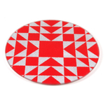 Strawberry Patchwork Tempered Glass Round Cutting Board, 8 Inch