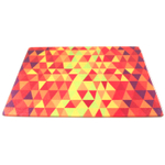 Crackle Fire Tempered Glass Rectangular Cutting Board, 8 x 10 Inch