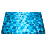 Crackle Ice Tempered Glass Rectangular Cutting Board, 8 x 10 Inch