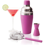 True Fabrications Stainless Steel Pink Cosmo 3 Piece Gift Set