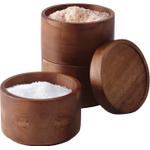 Rachael Ray Tools Acacia Wood 3-Tier Stacking Salt Box