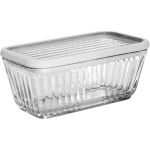 Anchor Hocking Bake 'N' Store Glass Dish and Lid with Silicone Gasket Sleeve, 5 Cup