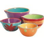 Anchor Hocking 4 Piece Ceramic Nesting Prep Bowl Set