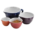 Anchor Hocking 4 Piece Ceramic Measuring Cup Set
