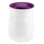 Anchor Hocking Ceramic Studio Canister with Eggplant Airtight Silicone Lid, 64 Ounce