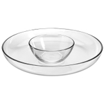 Anchor Hocking Presence Glass Deep Round Chip 'n Dip Set