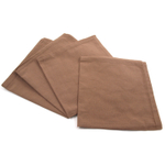 Park B. Smith Taylor Milk Chocolate Cocoa Brown 100% Cotton Dinner Napkin, Set of 12