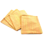 Park B. Smith Cortina Ice Lemon Yellow 100% Cotton Dinner Napkin, Set of 12