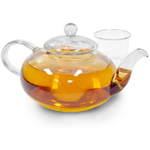 Primula Daisy Glass Teapot with Glass Infuser and Lid, 40 Ounce
