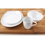Dansk Classic Fjord 4 Piece White Porcelain Dishware Set, Service for 1