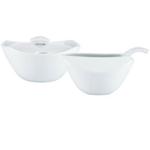Dansk Classic Fjord White Porcelain Creamer and Sugar Set