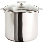 Cristel Multiply Stainless Steel 10 Quart Stockpot with Glass Lid