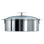 Cristel L Stainless Steel Non-Stick 3.5 Quart Sautepan with Glass Lid