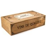 Wooden Enamel Top Winery Box