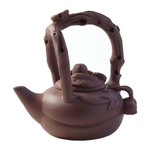 Yixing Monkey On Horse Teapot, 6 Ounce