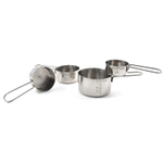 Carlisle Chef Series 4 Piece Stainless Steel Measuring Cup Set