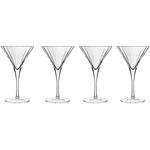 Luigi Bormioli Bach Crystal Martini Glass, Set of 4