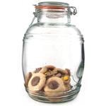 Grant Howard 135 Ounce Glass Cracker Barrel Jar