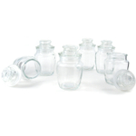 Grant Howard Round Glass Condiment Jar, Set of 12