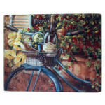 Grant Howard French Bicycle Glass Cutting Board, 12 x 15 Inch