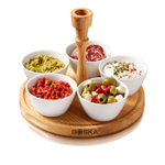 Boska Holland Life 6 Piece Porcelain Chip and Dip Set