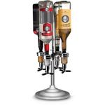 Final Touch 4 Bottle Bar Caddy Liquor Dispenser