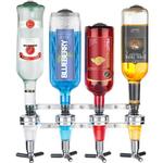 Final Touch 4 Bottle Bar Caddy Wall Mounted Liquor Dispenser