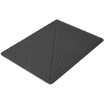 Final Touch Black Silicone Glass Drying Mat