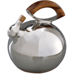Nambe Stainless Steel Bulbo Kettle with Wood Handle