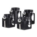 Oggi EZ Grip Black Ceramic Food Storage Canister Set