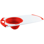 Dexas Over-The-Sink White and Red Strainer Grippboard Cutting Board