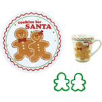 Boston Warehouse Sugar and Spice Cookies for Santa 4 Piece Set