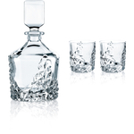Nachtmann Sculpture 3 Piece Crystal Barware Set