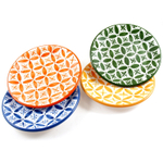 Sobremesa Fairtrade Fez Collection Handmade Side Plate, Set of 4