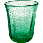Artland Savannah Green Bubble Double Old Fashion Glass, 10 Ounce