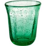 Artland Savannah Green Bubble Double Old Fashion Glass, 10 Ounce