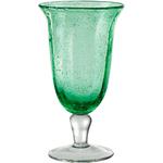 Artland Savannah Green Bubble Glass Goblet, 14 Ounce