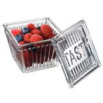 Artland Tasty Fridge & Pantry Square Glass Storage Jar, 4 x 4 Inch