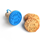 Suck UK Blue I Love You Silicone Cookie Stamper