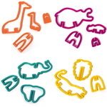 Suck UK Assorted 3D Plastic Safari Cookie Cutters