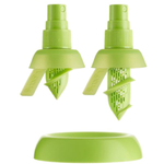 Lekue Green Plastic Citrus Sprayer, Set of 2