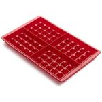 Lekue Red Silicone Waffle Mold, Set of 2